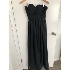 JJs House Dresses - Black strapless dress